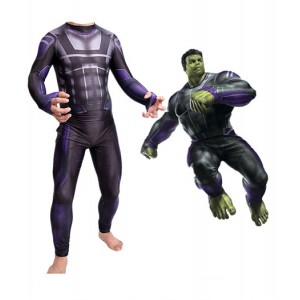 Avengers: Endgame Ensemble Complet Hulk Costume Bodysuit Cosplay