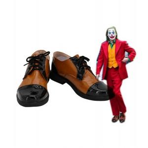 The Joker 2019 : Joaquin Phoenix Joker Brown Chaussures Cosplay