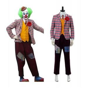 The Joker 2019 : Joaquin Phoenix Clown Tenue Avec Perrque Costumes Cosplay