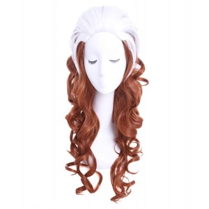 X-Men : Cheveux longs et bouclés Rogue Wig Cosplay