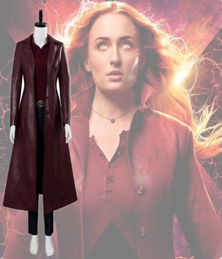 X-Men : Pour Femme En Cuir Costume Coupe-Vent Phoenix Cosplay