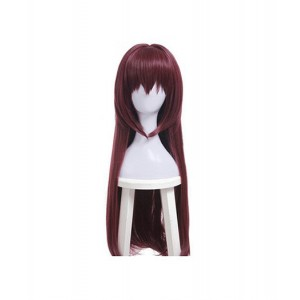 Fate/Grand Order : Longs Cheveux Raides Brown Wig Scáthach Cosplay