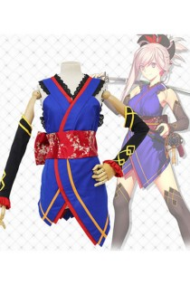 Fate/Grand Order : Miyamoto Musashi Ensemble Complet Bleu Costume Cosplay