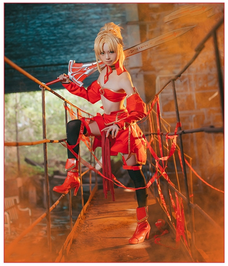 Fate/Grand Order : Costume Cosplay Mordred Ensemble Complet