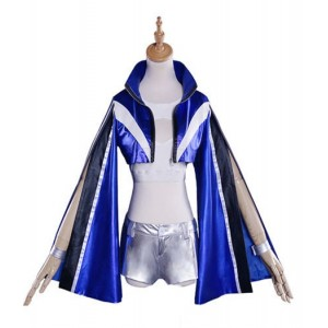 Fate/Grand Order : Ensemble Complet Costume Tamamo-no-Mae Bleu Kit Cosplay