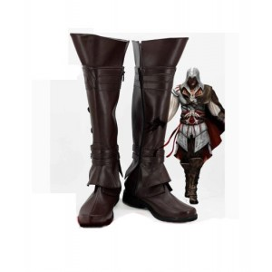 Assassin's Creed : Brown Boots Ezio Auditore Cosplay