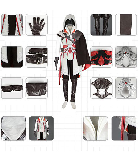 Assassin's Creed : Ensemble Complet Ezio Auditore Costume Cosplay