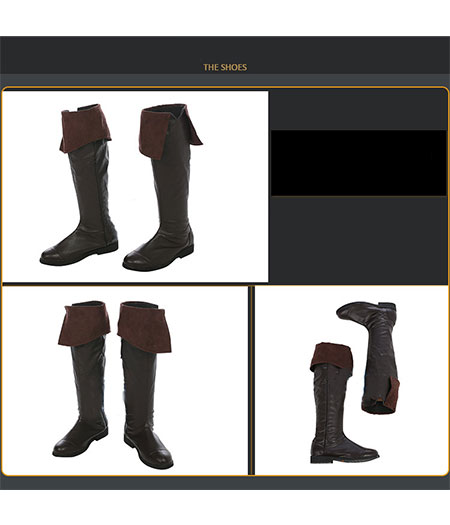 Assassin's Creed : Black Flag Edward James Kenway Noir Boots Cosplay