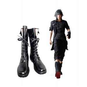 Final Fantasy : Noir Cuir Boots Noctis Lucis Caelum Cosplay