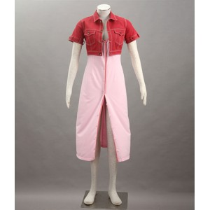 Final Fantasy : Rose Robe Aerith Gainsborough Costume Cosplay