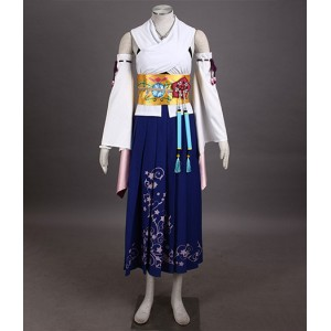 Final Fantasy 10 : Yuna Kimono Ensemble Complet Costume Cosplay