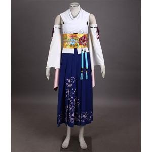 Final Fantasy 10 : Yuna Kimono Ensemble Complet Costume Cosplay