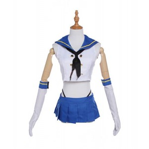 Kantai Collection : Bleu Uniforme Marin Shimakaze Costume Cosplay Vente Pas Cher