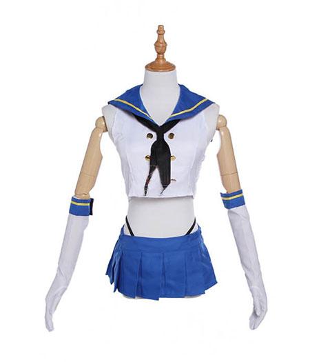 Kantai Collection : Bleu Uniforme Marin Shimakaze Costume Cosplay Vente Pas Cher