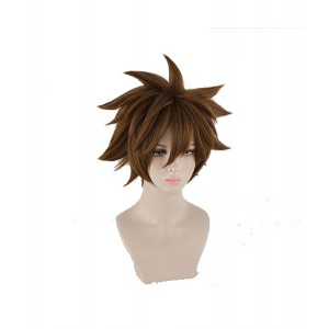 Kingdom Hearts III : Brown Court Wig Sora Cosplay Vente Pas Cher