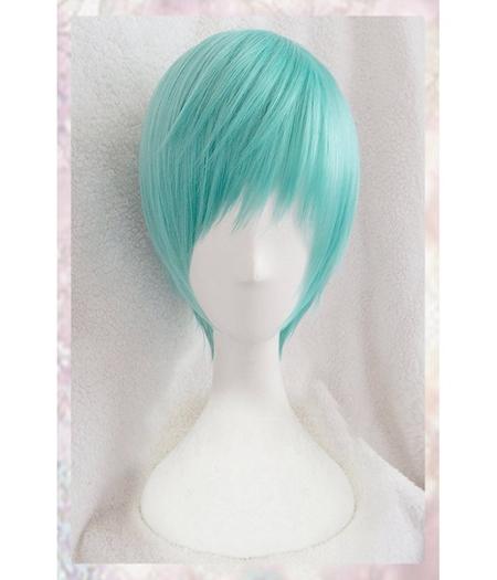 Touken Ranbu : Cheveux courts verts Ichigo Hitofuri Wig Cosplay