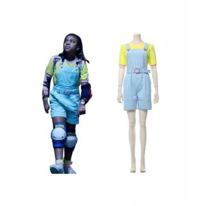 Stranger Things : Jean A Bretelles Erica Sinclair Costume Cosplay Achat